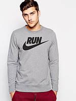 Свитшот Nike run серый