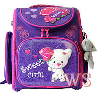 Рюкзак Winner stile 1024 трансформер ортопедический школьный для девочек фиолетовый 30 см * 16 см * 36 см