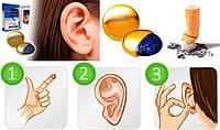 Магнит против курения на ухо  Zero smoke (золотой)