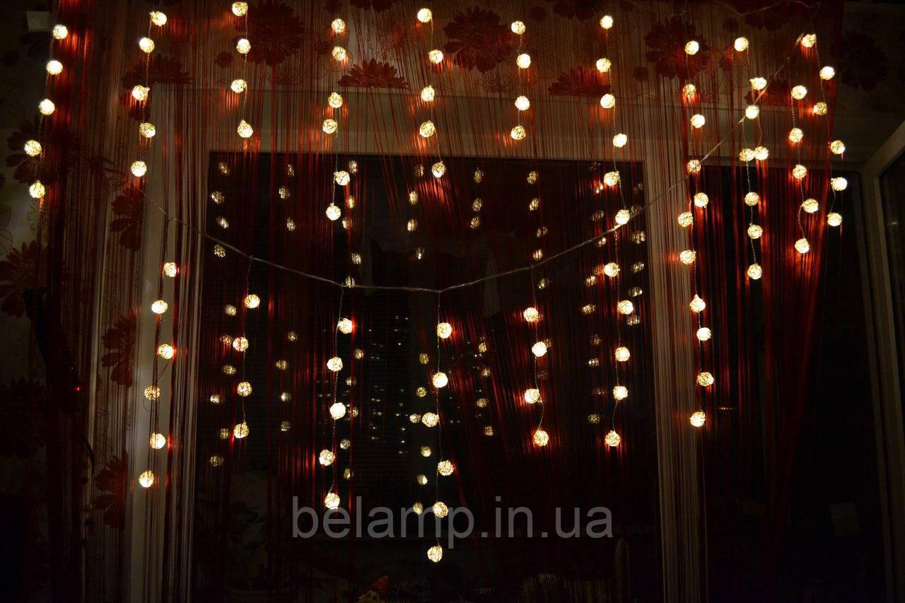 светодиодная бахрома на окно