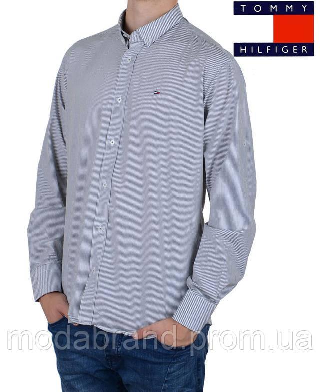 Красивая мужская рубашка в тонкую полоску Tommy Hilfiger  продажа ... 9918644b9d49c