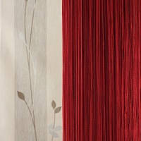 Нитяные шторы однотонные простые бордовые
