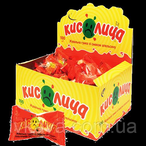 Жевательная резинка  Кислинка со вкусом апельсина , 3,5  гр х 100 шт