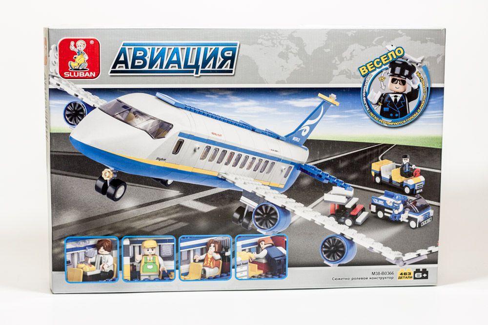 Конструктор Sluban B0366 Аэробус серия Авиация