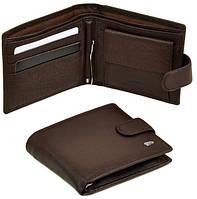 1bdcf1f0440e Мужской кожаный кошелек портмоне Dr. Bond с зажимом для купюр натуральная  кожа