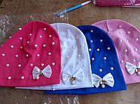Детская тонкая яркая модная шапка на девочек