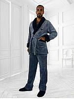 Пижама -костюм махровая  мужская, фото 1