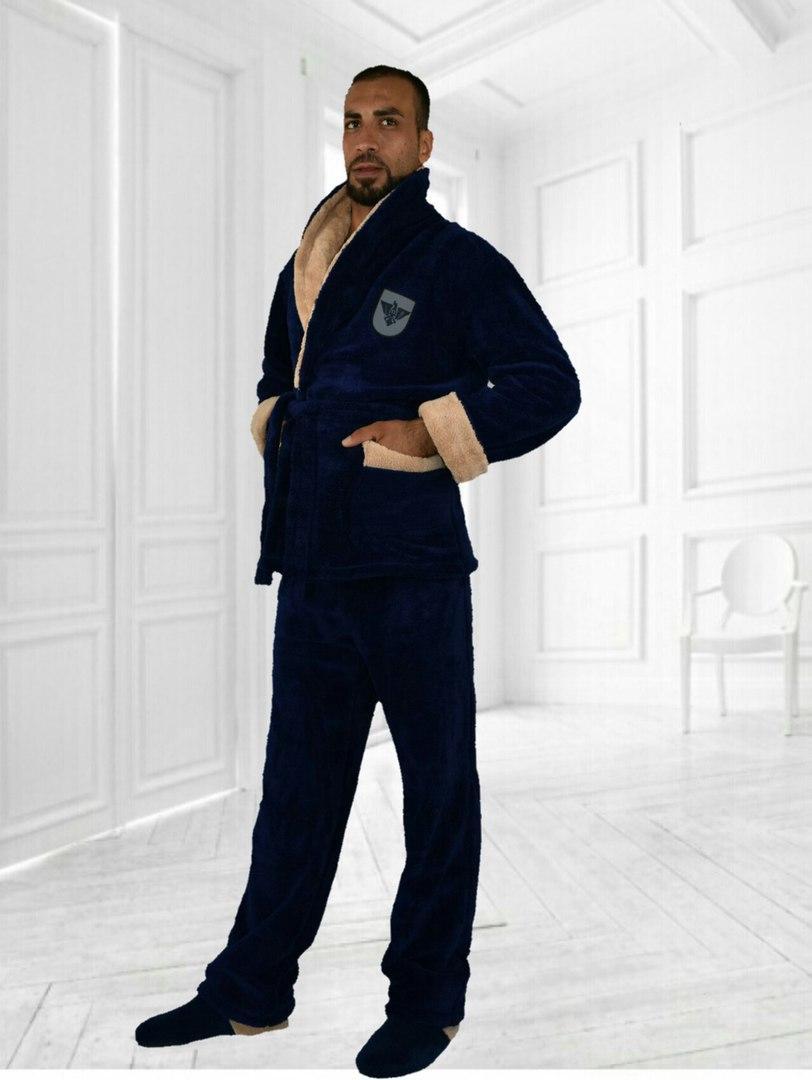 Купить Пижаму -костюм махровую мужскую оптом и в розницу от интернет ... 15725a924ecb5