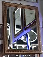 Зеркало настенное в багетной раме, индивидуальный размер
