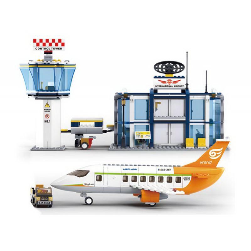 Конструктор Sluban B0367 Международный аэропорт серия Авиация