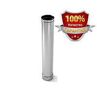 Труба для дымохода нерж. 130 0,6мм AISI 304, фото 1