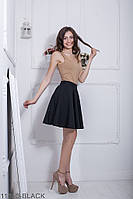 Женская юбка солнце-клеш Подіум Warence 11850-BLACK XS Черный