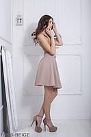 Женская юбка солнце-клеш Подіум Warence 11850-BEIGE XS Бежевый