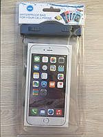 Универсальный водонепроницаемый прозрачный чехол с ремешком на руку для телефонов до 6.5дюймов