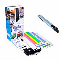3D-ручка 3Doodler Create для проф. исп. - ГОЛУБОЙ МЕТАЛЛИК (50 стержней из ABS-пластика, аксесс.)