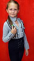 Блузка обманка школьная для девочки 7-14 лет Ccomajo