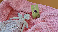 Детский плюшевый розовый плед