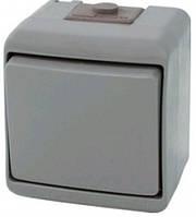 Выключатель 2-клавишный (серый) (IP54) VHE-2-SR, 4668061