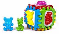 Большой логический куб, развивающий сортер с фигурками