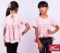 Школьная асимметричная  блузка
