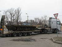 От ТОВ.УКРКИЕВТРАНС перевозка низкорамным тралом корпуса БТР с Киева в Одессу 07.10.2011