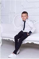 Рубашка с галстуком на мальчика ,р.9-12  лет
