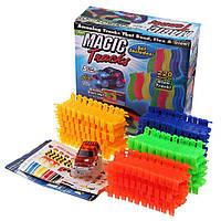 Детский светящийся автотрек Magic Tracks (220 деталей + машинка)