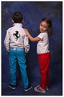 """Модельные брюки """"ЛЁН"""", на девочку. Огненный коралл, 5 цветов."""