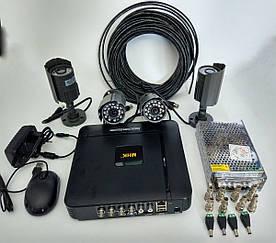 Комплект видео наблюдения на 4 наружные AHD камеры