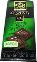 Горький классический шоколад J.D. Gross Amazonas 60%, 125 гр., фото 1