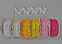 Атласные цветочки 2 см на катушке 20 м 137