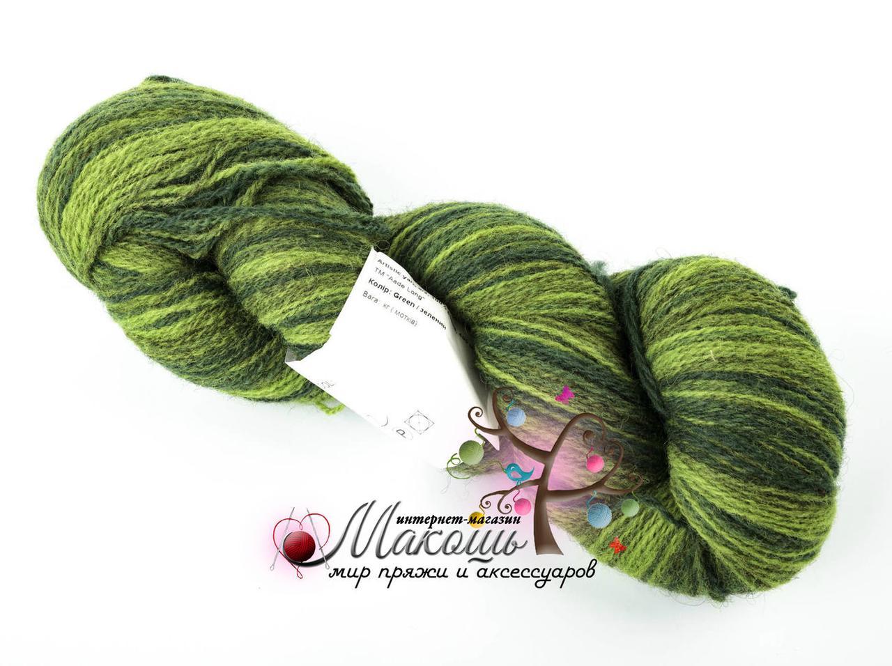 Пряжа Aade Long Kauni Artisric Yarn 8/2  Кауни Арстистик Ярн 8/2, зеленый, цена за 100 грамм