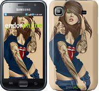 """Чехол на Samsung Galaxy S i9000 Девушка в наколках v2 """"1079c-77"""""""