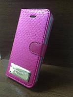 """Кожаный чехол-книжка """"Michael Kors"""" розовый для iPhone 5/5S/SE"""