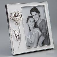 """Красивые рамки для фотографии из метала """"Роза любимой"""" (15*17 см, ф - 10*15 см) подарок паре"""
