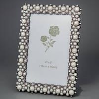 """Царские рамки для фотографии """"Жемчужины"""" (13*18, ф - 10*15 см) для свадебного фото"""