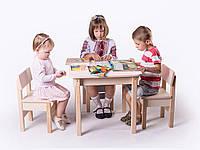 Стол письменный SP1.37 3в1 (игровой столик, мольберт, парта) с защитной фотопечатью для ребенка от 2-х лет ТМ Вальтер