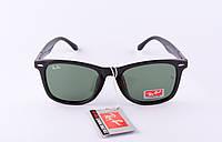 Солнцезащитные очки Ray Ban Wayfarer черные глянец ( Рей Бен Вейфарер), магазин очков солнцезащитных