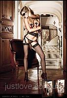 Чулки в сетку и кружевной подвязкой Black Lace Garter Stockings