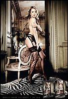 Красивые черные чулки с узором Side Seam Stockings
