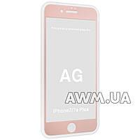 Защитное стекло iPhone 7+ AG 2,5D (Rose gold)