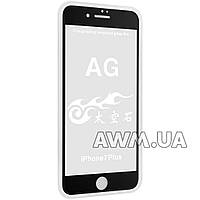 Защитное стекло iPhone 7 AG (черный)