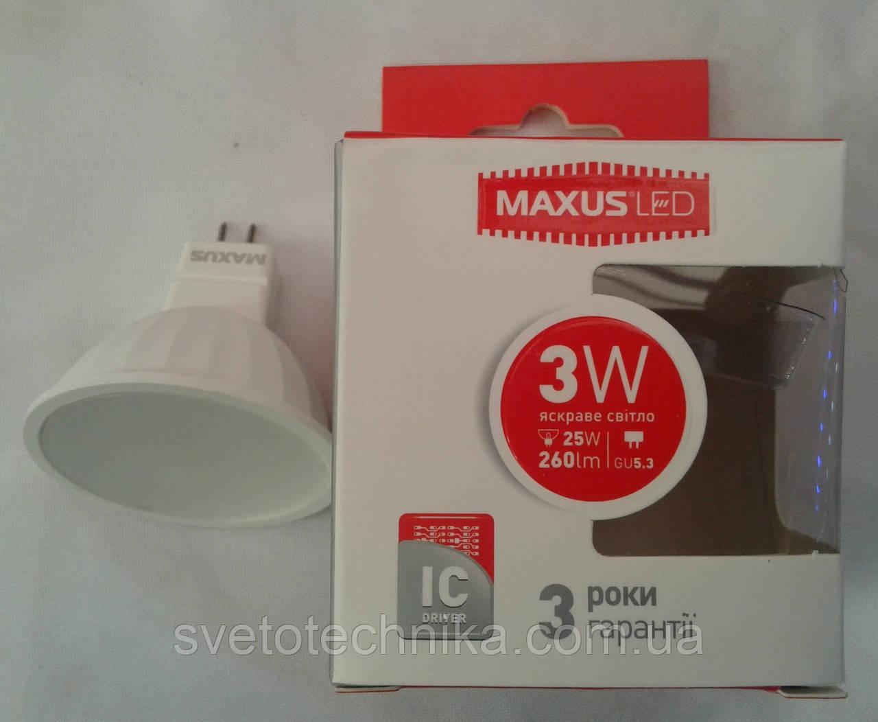 Светодиодная лампа Maxus LED-511 3W 3000К