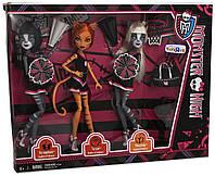 Monster High Торалей Страйп, Мяулодия и Пурсефона группа поддержки