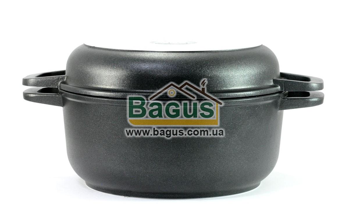 Кастрюля 2л 20см с антипригарным покрытием и крышкой-сковородкой Биол (K202P)