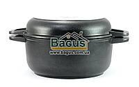 Кастрюля 2л 20см с антипригарным покрытием и крышкой-сковородкой Биол (К202П)
