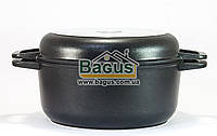 Каструля 3л 22см з антипригарним покриттям, з кришкою-сковорідкою Біол (К302П), фото 1