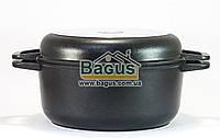 Кастрюля 3л 22см с антипригарным покрытием и крышкой-сковородкой Биол (K302P), фото 1