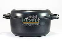 Кастрюля 4л 24см с антипригарным покрытием и крышкой-сковородкой Биол (K402P), фото 1