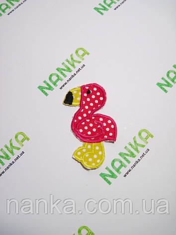 Тканевая нашивка аппликация Фламинго № 237, фото 2